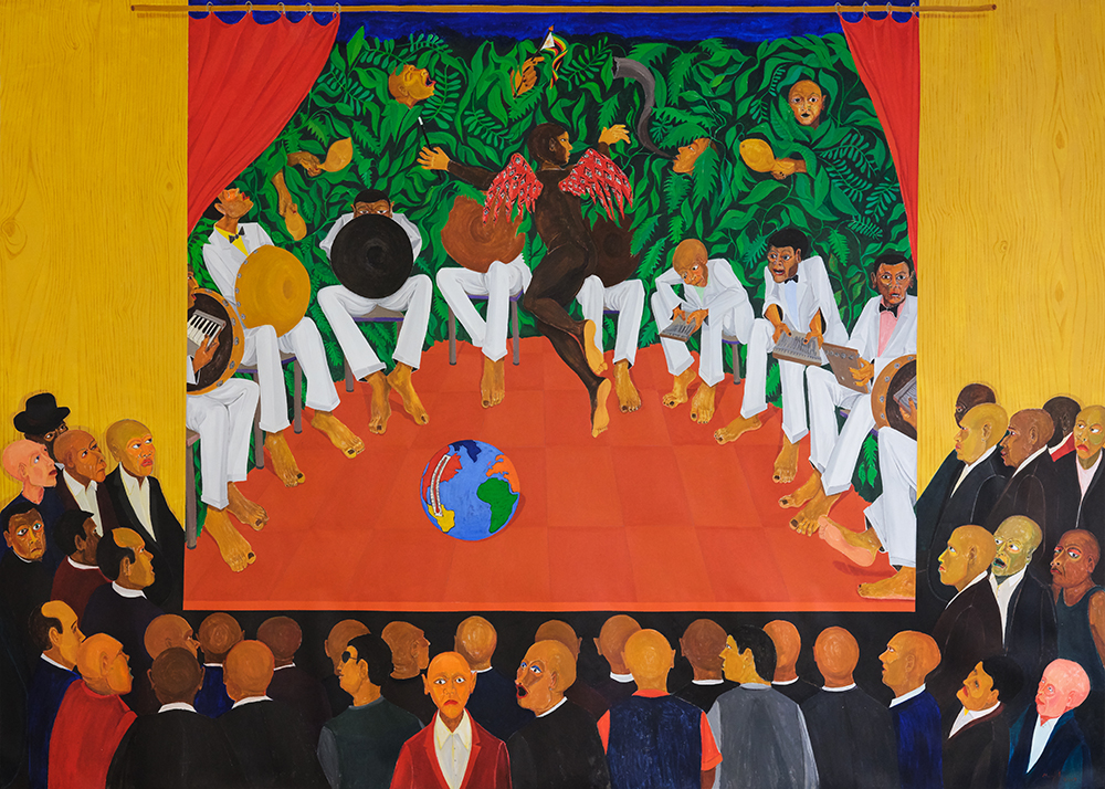 Richard Mudariki / Bira Re-climate change  » Richard Mudariki / acrylique sur toile / Acrylic on canvas, 2019 210 x 300 cm