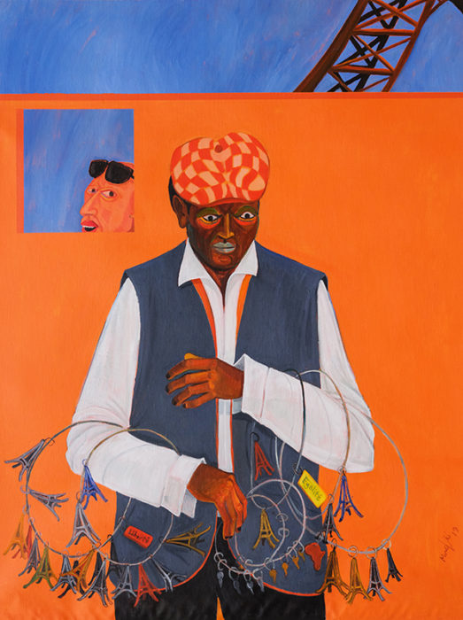 Richard Mudariki / Untitled 1 / Acrylique sur toile – Acrylic on canvas / 106 x 80 cm / 2019