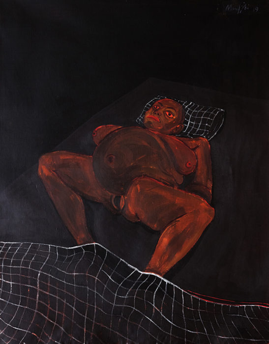 Richard Mudariki / Untitled 2 / Acrylique sur toile – Acrylic on canvas / 102 x 80 cm / 2019