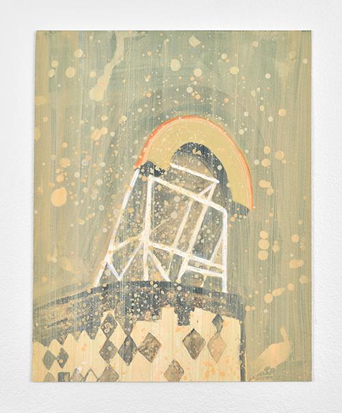 Vanessa Fanuele / Soupir II / Huile sur papier – Oil on paper / 32 x 25,5 cm / 2019