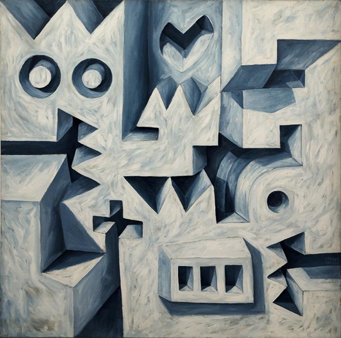 Speedy Graphito / 1986 – L'hymne à l'amour / Acrylique sur toile – Acrylic on canvas / 150 x 150 cm / Disponible à la galerie