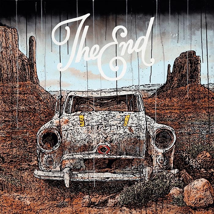 Speedy Graphito / The end / Acrylique sur toile – Acrylic on canvas / 120 x 122 cm / Disponible à la galerie