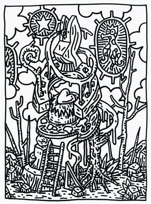 Speedy Graphito / Circonstances Elémentaires / Posca sur papier / 38 x 28 cm / 2018