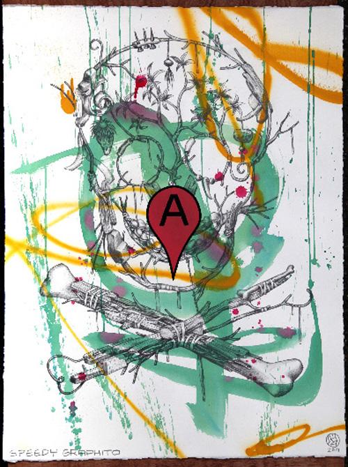 Speedy Graphito / Vanity / Crayon et acrylique sur papier – Pencil and acrylic on paper / 65 x 50 cm / 2014