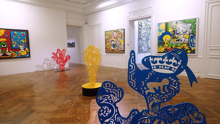 Vue de l'exposition « Le Musée Imaginaire de Speedy Graphito » à l'Hôtel Départemental des Arts-Centre d'art du Var , du 8 mars au 2 juin 2019