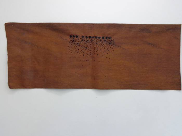 Sara Ouhaddou / « Woven/Unwoven # 7 » / mixed media / 80 x 211 cm / 2015