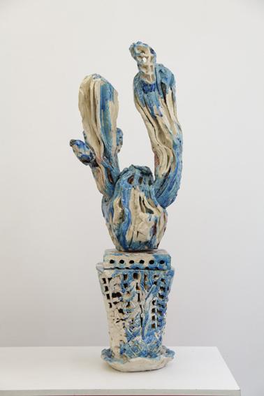 Clémence van Lunen / Cactus #11 / Grès, briques émaillées – Glazed stoneware / 113 x 39 x 33 cm / 2017