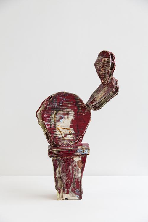 Clémence van Lunen / Cactus #12 / Grès, briques émaillées – Glazed stoneware / 55 x 33 x 15 cm / 2017