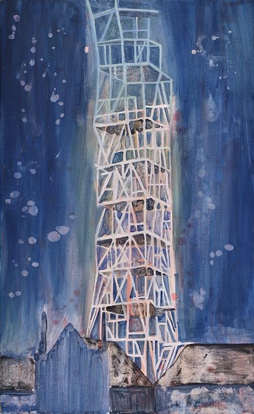 Vanessa Fanuele / La nuit fragile / Huile sur toile – Oil on canvas / 90 x 56 cm / 2017