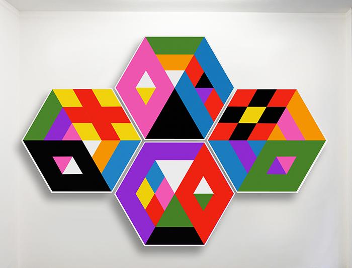Speedy Graphitos / Modules / Acrylique sur toile – Acrylic on canvas / 140 x 160 cm chaque / 2015