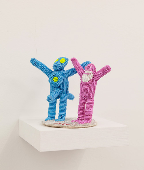 Walter Van Beirendonck / N°3008 Alien / Unique piece - Embroideries and beadings / 14 x 11 x 8,5 cm / 2020
