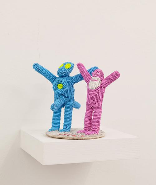 Walter Van Beirendonck / N°3008 Alien / Unique piece - Embroideries and beadings / 14 x 11 x 8,5 cm / 2020