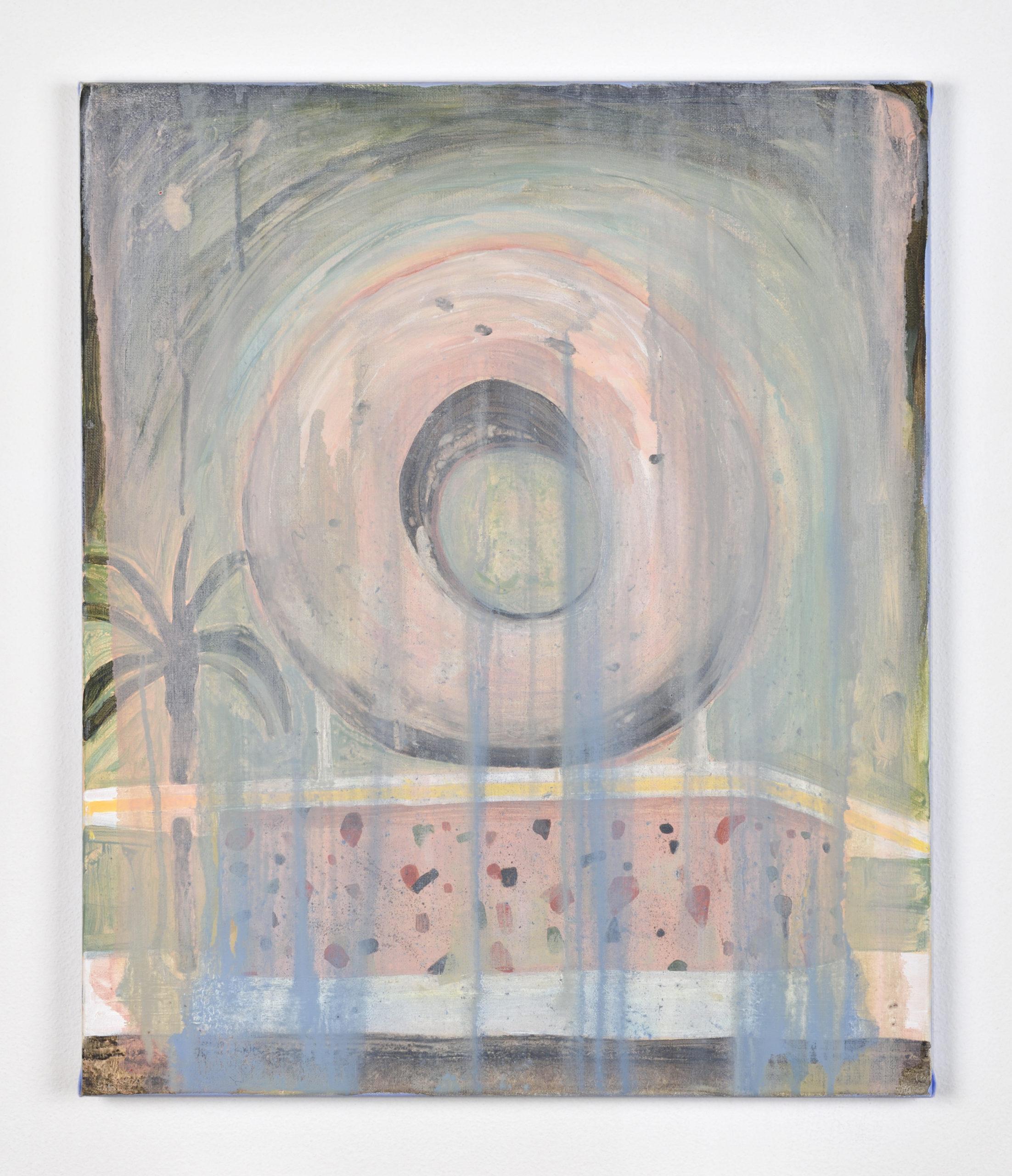 Vanessa Fanuele / Domus crisp / Huile sur toile - Oil on canvas / 60 x 50 cm / 2020