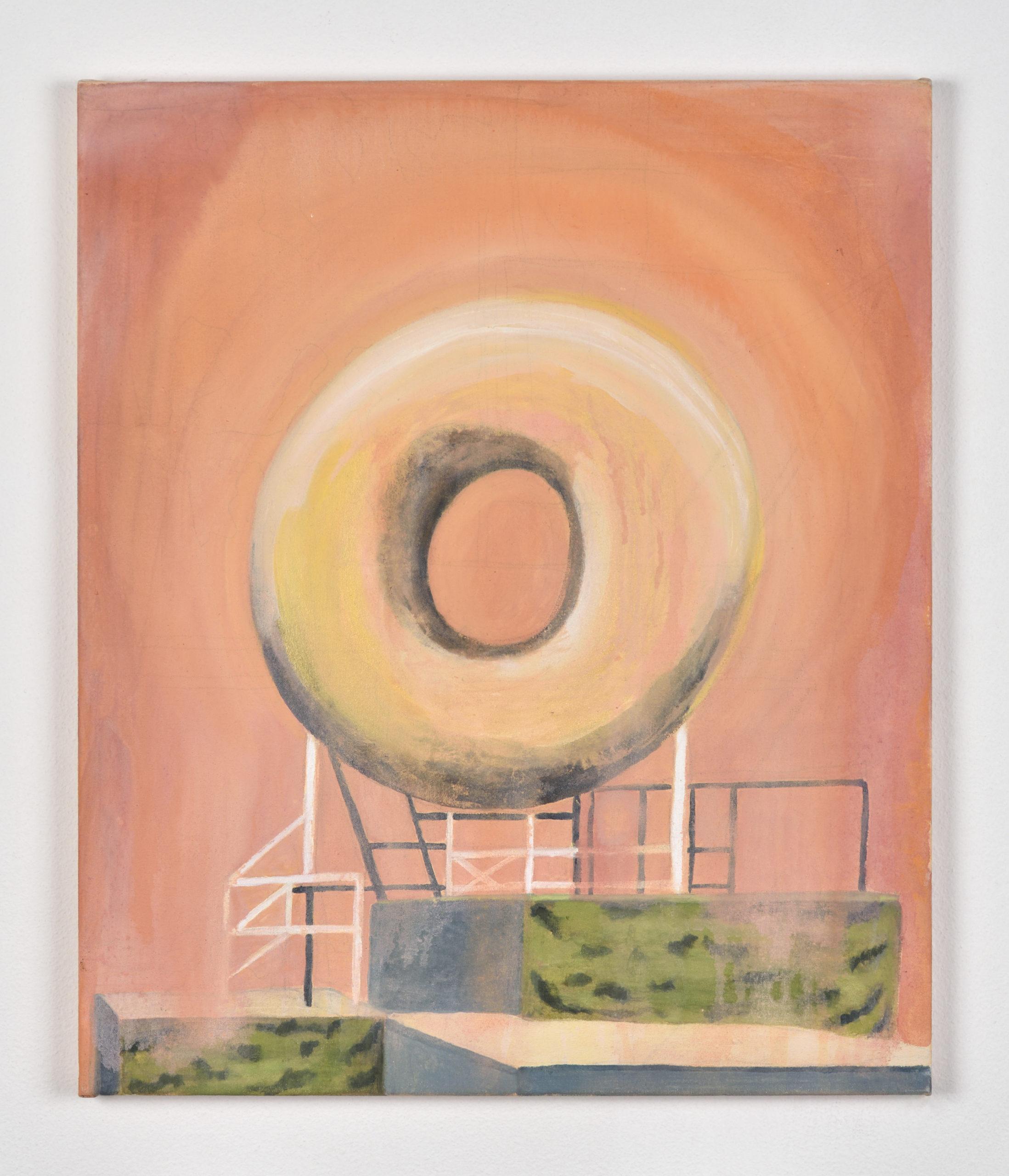 Vanessa Fanuele / Domus sun / Huile sur toile - Oil on canvas / 60 x 50 cm / 2020