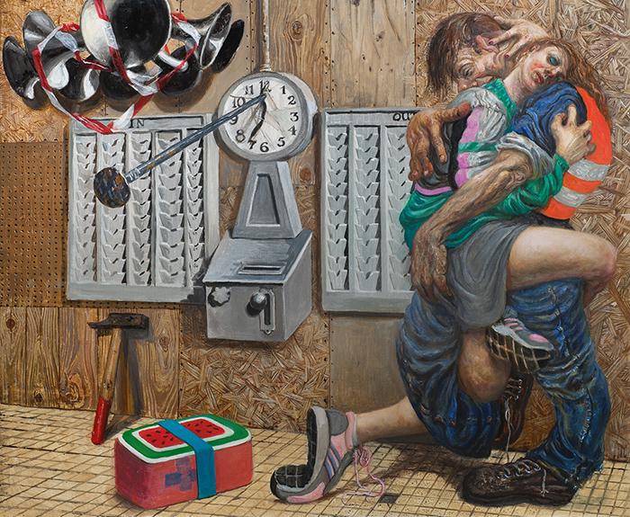 Marcos Carrasquer / Amanda / Huile sur toile - Oil on canvas / 46 x 55 cm / 2020