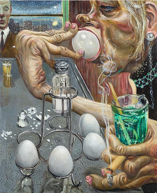 Marcos Carrasquer / I love Paris / Huile sur toile - Oil on canvas / 46 x 38 cm / 2020