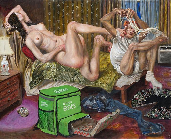 Marcos Carrasquer / Mozza / Huile sur toile - Oil on canvas / 50 x 61 cm / 2020