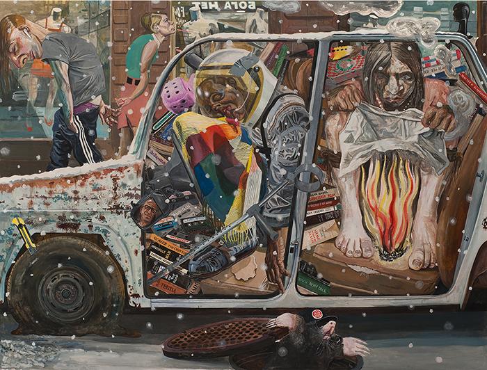 Marcos Carrasquer / Repo / Tempéra sur papier - Tempera on paper / 120 x 160 cm / 2020