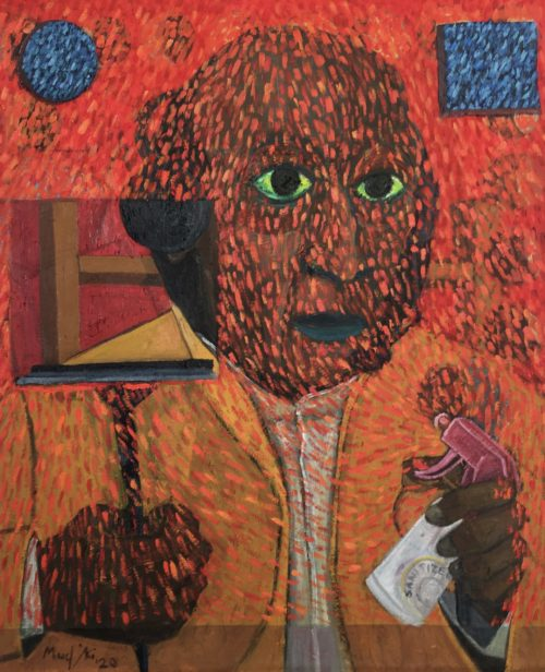 Richard Mudariki / The Sprayer / Huile sur toile - Oil on canvas / 55 x 46,5 cm / 2020
