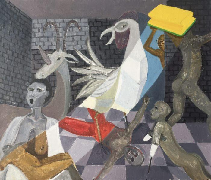 Richard Mudariki / Restoration / Huile sur toile - Oil on canvas / 46,5 x 55 cm / 2020