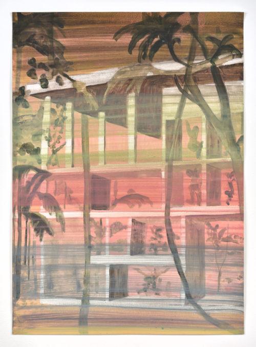 Vanessa Fanuele / ULTRA 01 / Huile sur papier - Oil on paper / 70 x 50 cm / 2020