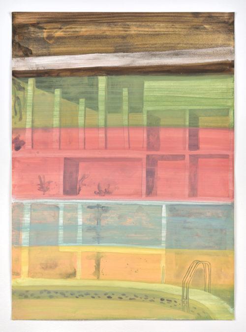 Vanessa Fanuele / ULTRA 02 / Huile sur papier - Oil on paper / 70 x 50 cm / 2020