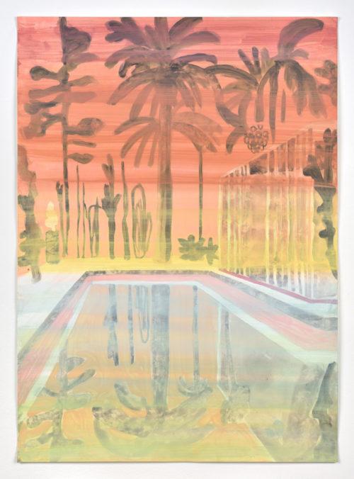 Vanessa Fanuele / ULTRA 03 / Huile sur papier - Oil on paper / 70 x 50 cm / 2020