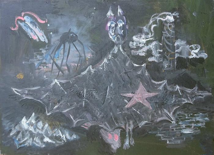 Bart Baele / Untitled / Huile sur toile - Oil on canvas / 40 x 55 cm / 2019-2020