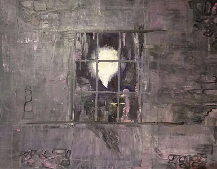 Bart Baele / Schizophrenic / Huile sur toile - Oil on canvas / 56,3 x 73 cm / 2019