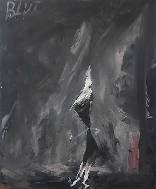 Bart Baele / Blut / Huile sur toile - Oil on canvas / 40 x 30 cm / 2018