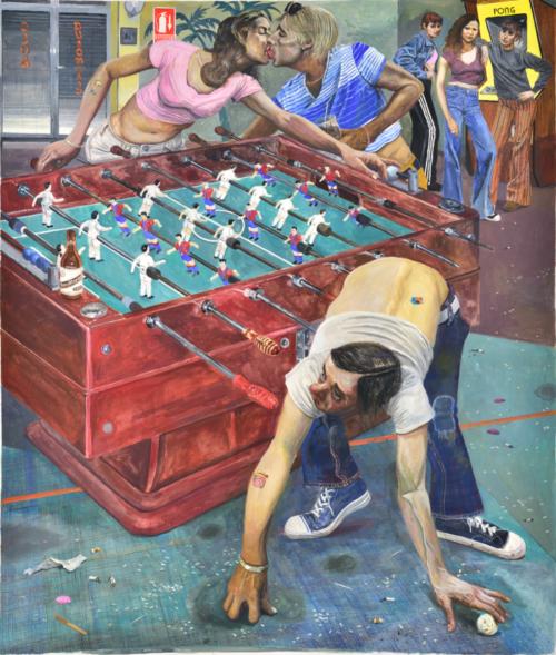 Marcos Carrasquer / Fullera - Tricheuse / Tempera sur papier - Tempera on paper / 138 x 118 cm / 2020