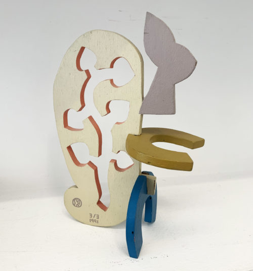 Speedy Graphite / Lapinture / Trois éléments en bois découpés et démontables / Edition de 3 exemplaires / 26,5 x 19,5 x 11 cm / 1991
