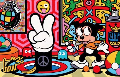 Speedy Graphito / American Power Up / Acrylique sur toile / Acrylic on canvas