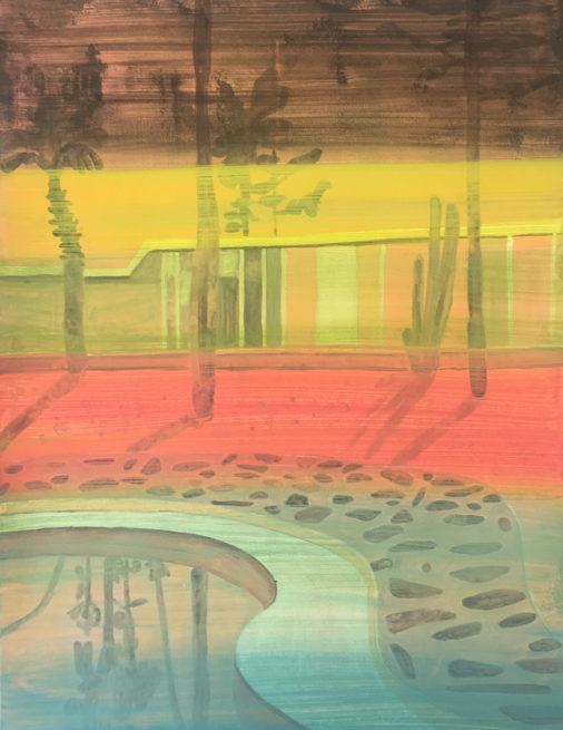 Vanessa Fanuele / ULTRA 04 / Huile sur papier - Oil on paper / 65 x 50 cm / 2020