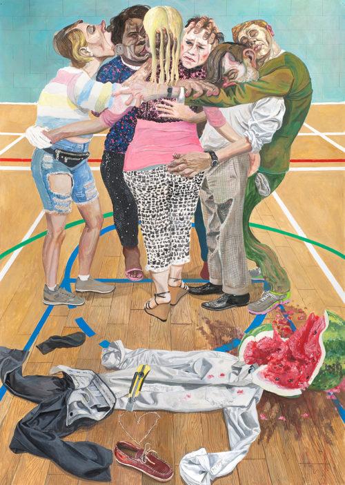 Marcos Carrasquer / Simulacro / Tempera sur papier - Tempera on paper / 105 x 75 cm / 2019