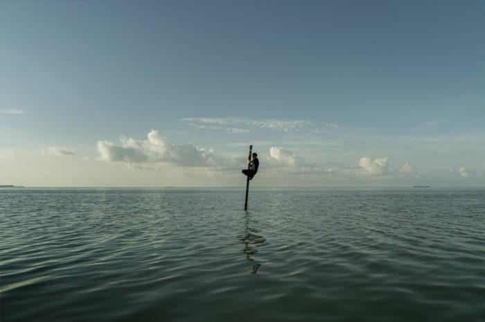 Simon Faithfull / Self-Portrait: Florida Bay / Framed digital photograph / 39 x 55 cm / 2019 / Ed. of 3