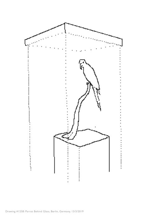 Simon Faithfull / 13 Birds / Digital drawing, ink jet print / 20 x 30 cm / 2007-2019 / Ed. of 2