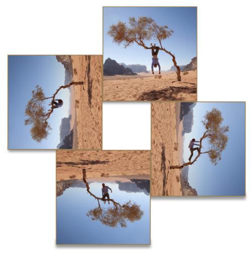 Simon Faithfull / Earthscape #1: Wadi Rum / Digital photographs / 60 x 60 cm (x4) / 2018 / Ed. of 3