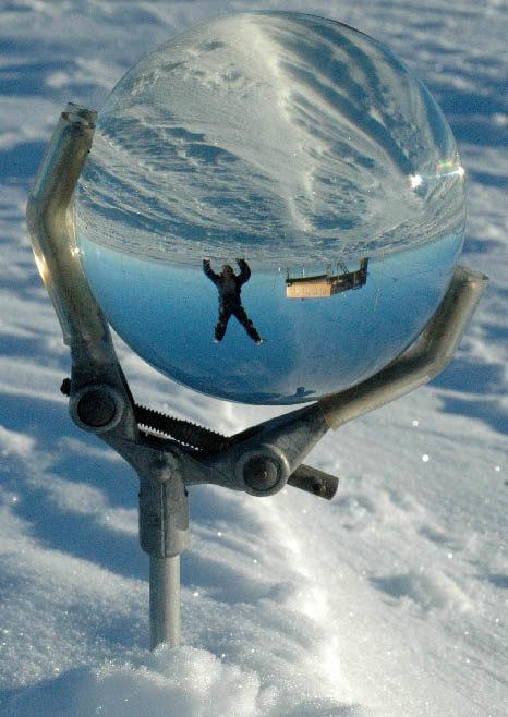 Simon Faithfull / Self Portrait – Halley Research Station, Antarctica, 12.05am / Digital photograph / 55 x 44,5 cm / 2019 / Ed. of 5
