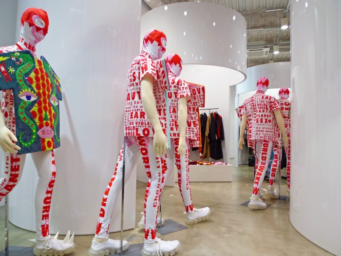 Walter Van Beirendonck / Exhibition view at the TRADING MUSEUM COMME DES GARÇONS in Tokyo / October 2020