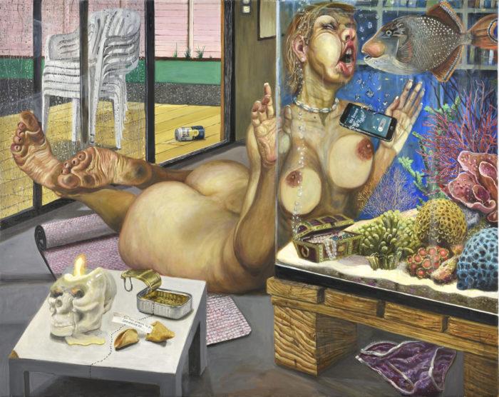 Marcos Carrasquer / La vie sur Terre / Huile sur toile - Oil on canvas / 73 x 92 cm / 2020