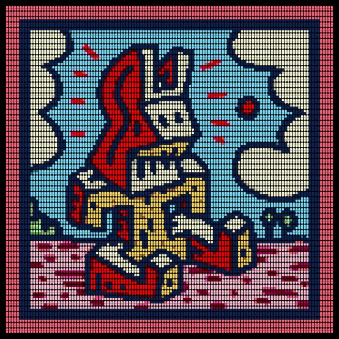 Speedy Graphito / Lapinture / Impression numérique sur plexiglas / 93 x 93 cm / 2020 / Edition de 3