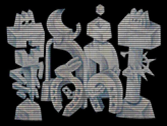 Speedy Graphito / Chef d'oeuvre à Lapinture / Impression numérique sur plexiglas / 93 x 123 cm / 2020 / Edition de 3