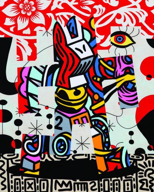 Speedy Graphito / Escapade / Acrylique sur toile - Acrylic on canvas / 81 x 65 cm / 2020