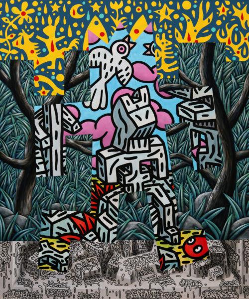 Speedy Graphito / D'après Nature / Acrylique sur toile - Acrylic on canvas / 120 x 100 cm / 2020